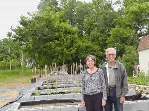 Community Garden Project facilitators Judith Ashelman and William Gregg 5-27-13